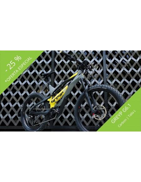 Descuento promocion oferta para Bicicleta Electrica Greyp Mexico G6.1 carbono talla L
