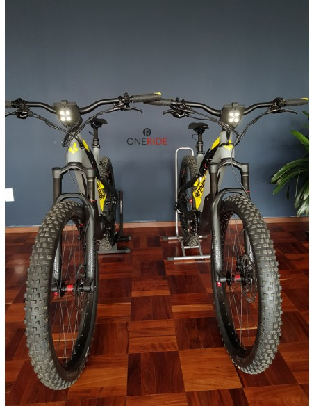 Bicicleta Electrica de montaña All-Mountain Greyp Carbon G6-1 talla grande Large Luz Led