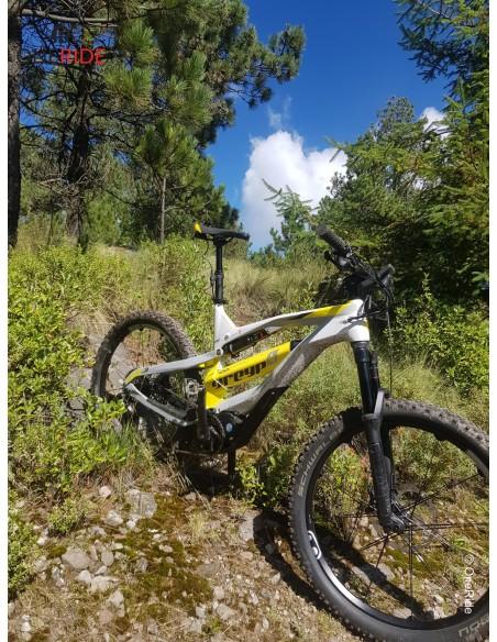 Salida en bicicleta electrica GREYP carbono G 6 25 km por hora al Ajusco DF Mexico